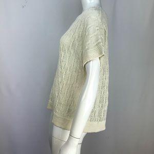 Joie Tops - Joie Cream Crochet Knit Blouse Ivory Top